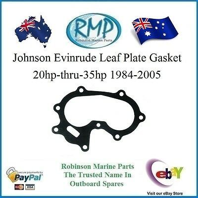 A Brand New Johnson Evinrude Leaf Plate Gasket 20hp-thru-35hp 1984-2005 # 326260