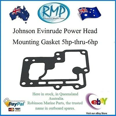 A Brand New Johnson Ev​inrude Power Head Mounting Gasket 5hp-thru-6hp  # 313065