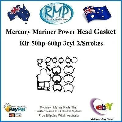 A Brand New Power Head Gasket Kit Mercury Mariner 3cyl 50hp-60hp # 27-812867A91