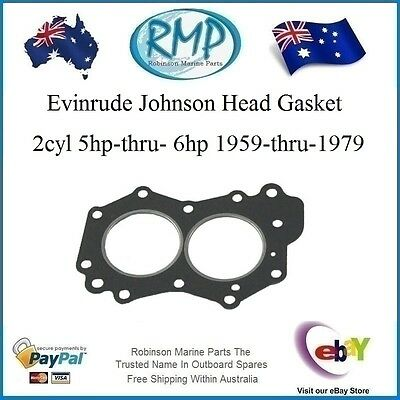 A Brand New Evinrude Johnson Outboard Head Gasket 5hp-thru-6hp 1959-1979  329103