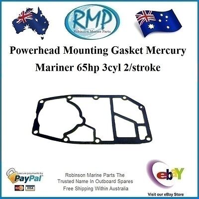 A Brand New Powerhead Mounting Gasket Mercury Mariner 60hp 3cyl # 27-60317
