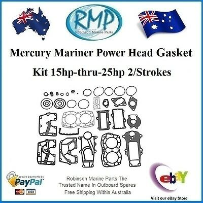 A Brand New Gasket Set For Mercury Mariner 15hp-thru-25hp # 27-41499A87