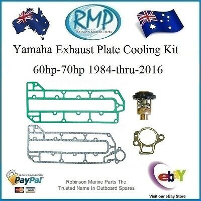 A Brand New Exhaust Plate Cooling Kit Yamaha 3cyl 60hp-70hp # R 6H3-41112-00 k