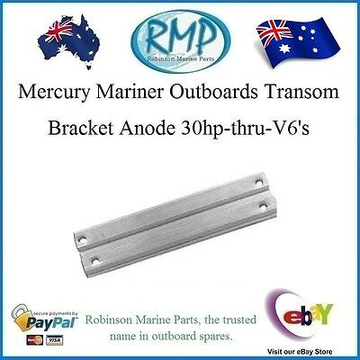 A Brand New Transom Bracket Anode Mercury Mariner 30hp-thru-V6's  # 818298