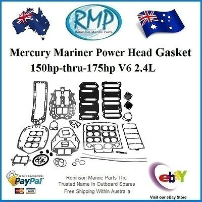 A New Power Head Gasket Kit Mercury Mariner 2.4L 150hp-thru-175hp # 27-815791A92