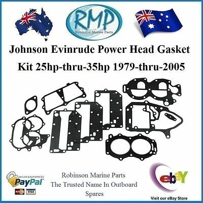 A Brand New Gasket Kit Suits Evinrude Johnson 20hp-thru-35hp 1979-2005 # 433941