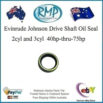 A Brand New Evinrude Johnson Drive Shaft Oil Seal 2-3cyl 40hp-thru-75hp # 321466