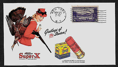 Vintage Super-X Shotgun Shells Ad Featured on Collector's Envelope *A163