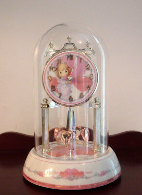 """Precious Moments """"You Are the Sweetest Heart"""" Tabletop Dome Clock w/Pendulum"""