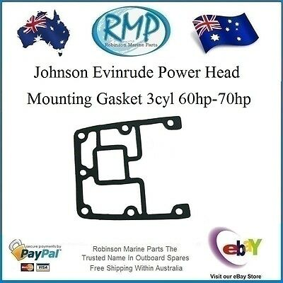 A Brand New Power Head Mounting Gasket Johnson Ev​inrude 3cyl 60hp-70hp  329828