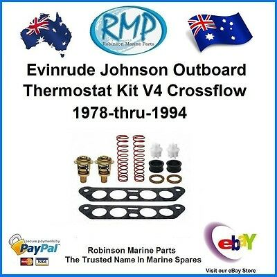 A Brand New Johnson Evinrude Thermostat Kit V4 Crossflow 85hp - 140hp 1978-1994