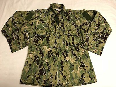ORIGINAL NAVY NWU Type III Seal AOR2 COMBAT Blouse Jacket Shirt Military Uniform