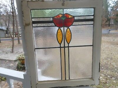 V-400 Lovely Older Leaded Stained Glass Window From England