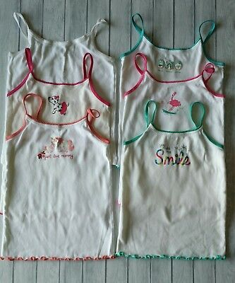 Gymboree Girls Size 5 6 Camisole Lot of 6 White Cami Tank Top