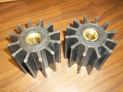 TWO PACK Impeller for Sherwood 17000K Cummins 3802444 Caterpillar CAT 1W5664