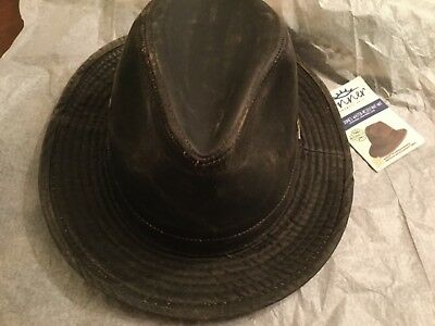 68b8a7fa41023b Conner Hats Brown Crushable Weathered Safari Hat Y1085 size X Large