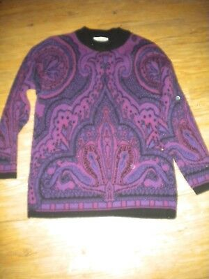 Ladies  sz M sweater made in Italy  Amita brand acrylic wool blend
