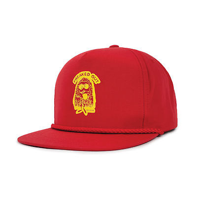 Brixton Freaked Out Snapback Cap (Red) Mens Unisex Hat Cap Headwear New 0f270a13bffe