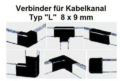 """Connector """" Type """" L """" Cable Channel 8x9mm/Please Colour Select"""
