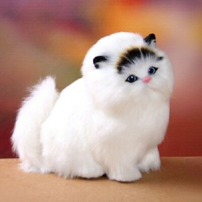 5 Color Hot Sale Lifelike Kitten White Black Cat Plush Toy High Quality Soft Toy