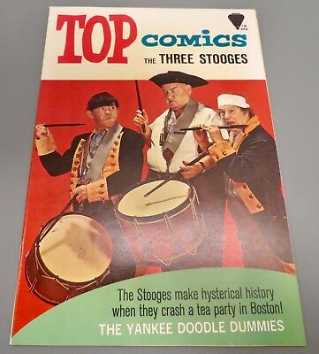 18-C130: Top Comics Three Stooges # 2, 1967, NM+ 9.6! WHITE paged GEM!