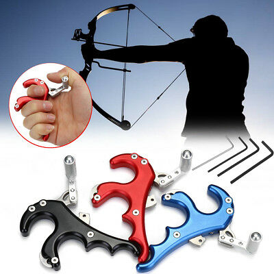 4 Finger Grip Caliper Trigger Arrow Release Aid For Compound Bow Hunting Archery