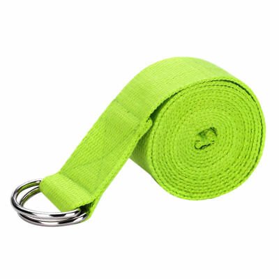 Adjustable D-Ring Buckle Belt Durable Cotton Yoga Fitness Extra 10FT Straps