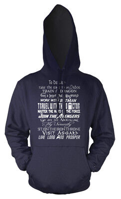 To Do List Geek Dr Who Star Wars LOTR GOT mash up Kids Hoodie