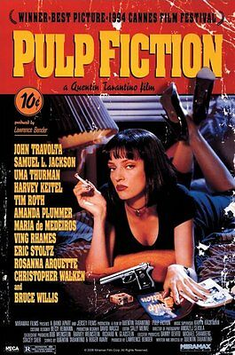 Pulp Fiction One Sheet Uma On Bed 91.5X61Cm Maxi Poster New Official Merchandise