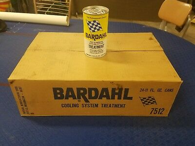 Vintage Full Bardahl case of 24 11oz Cooling Treatment Cans Unopened! Full case