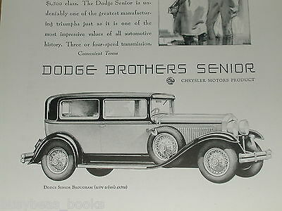 1929 Dodge Brothers advertisement, DODGE Senior Brougham, with pilot