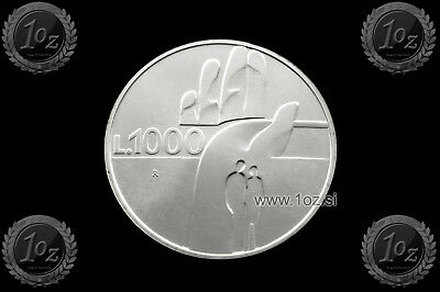 SAN MARINO 1000 LIRE 1990 (1600 Years of HISTORY) SILVER Comm coin (KM# 257) UNC