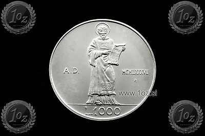 SAN MARINO 1000 LIRE 1987 (RESUMPTION OF COINAGE) SILVER Comm coin (KM# 210) UNC