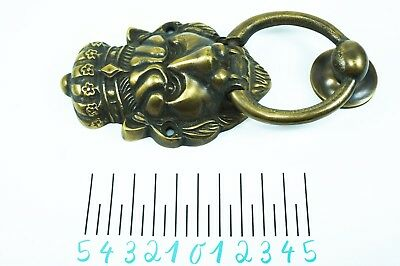 Lion Brass Door Knocker Vintage Antique Victorian Metal Solid Crown Tattoo Skull