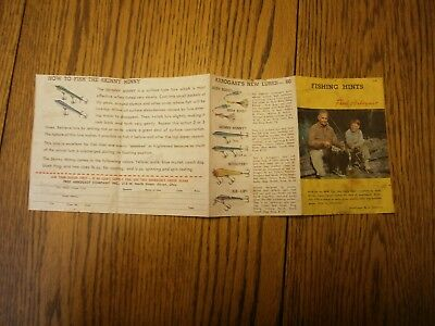 1960 Fishing Hints Fred Arbogast Lure Small Flyer Brochure Be Great In A Frame