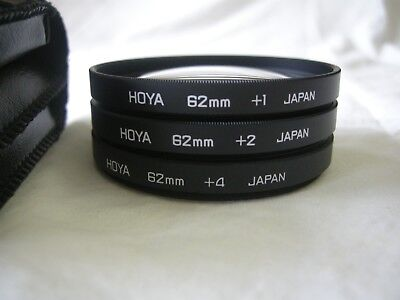 Hoya 62mm Close-up filter set for Nikon,Sigma,Canon,Tokina,Promaster,Tamron