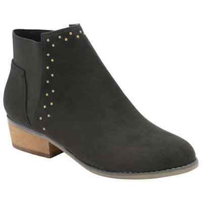 Dolcis Wendy Black Chelsea Memory Foam Low Western Heel Heeled Ankle Boots Uk 6