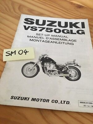 Suzuki VS750GLG VS750 Intruder 750 instruction preparation setup manuel montage