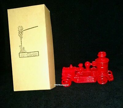 FIRE PUMP Iron Art Company mini cast iron toy vintage red fire truck antique
