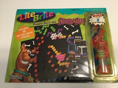 LITE BRITE Scooby Doo Picture Refill Set SEALED 10 Sheets 2004 AGES 4+