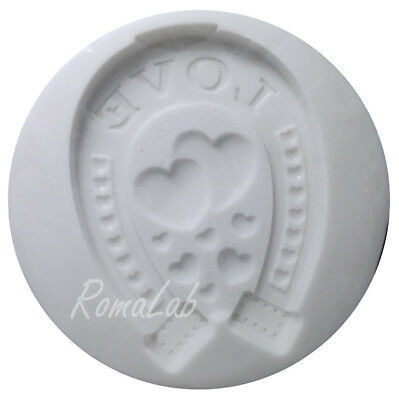MINI STAMPO IN SILICONE FLESSIBILE ferro di cavallo love portafortuna
