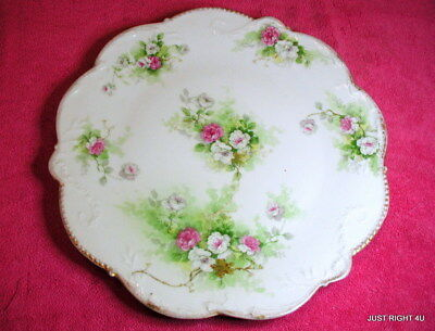 """Latrille Freres Limoges (Old Abbey LAT?) 12 1/8"""" CHARGER PLATE Exc"""