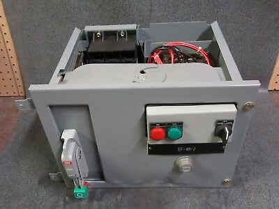 "Square D Model 6 Mcc Bucket 12"" 480 V Size 1 Starter 15 Amp Breaker Fhp36015"
