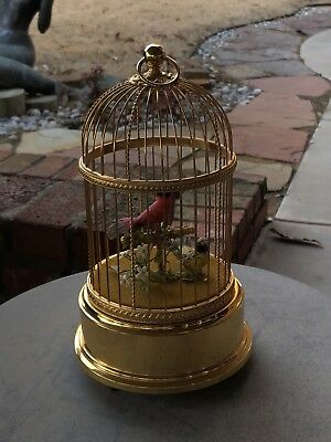 Reuge Swiss Singing Automaton Bird Cage Music Box - Excellent Working Order NR!