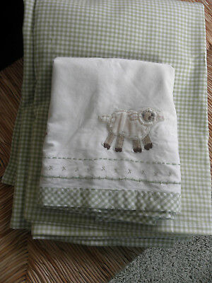 Pottery Barn Kids,  drapes & valance with barn animals & gingham