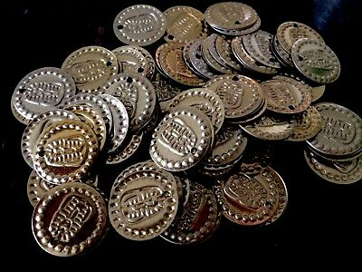 Lot Of 50 Coins Metallic Beads King Tut Egyptian Belly Dance Sewing Golden Tone