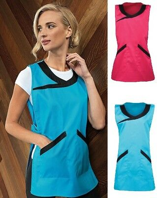 Ladies Cleaning Apron Womens Tabard Catering Tabbard Work Kitchen Overall PR176