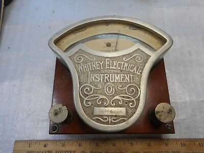 Vintage Whitney Electric Instrument Direct Current Ammeter Complete W/ Sticker