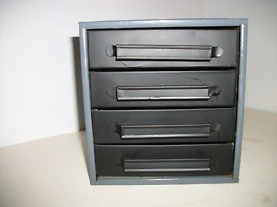 Vintage 4 Drawer Metal Small Parts Tool Box Cabinet Chest Storage Industrial