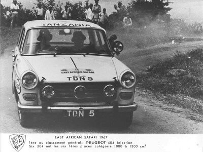 1967 Peugeot 404 Injection East African Safari ORIGINAL Factory Photo oua1561